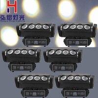 2017 Factory Price 6Pcs/Lot NEW LED Moving Head Light LED Spider 8X10W RGB4IN1 Beam Lights Good Quality DJ lighting
