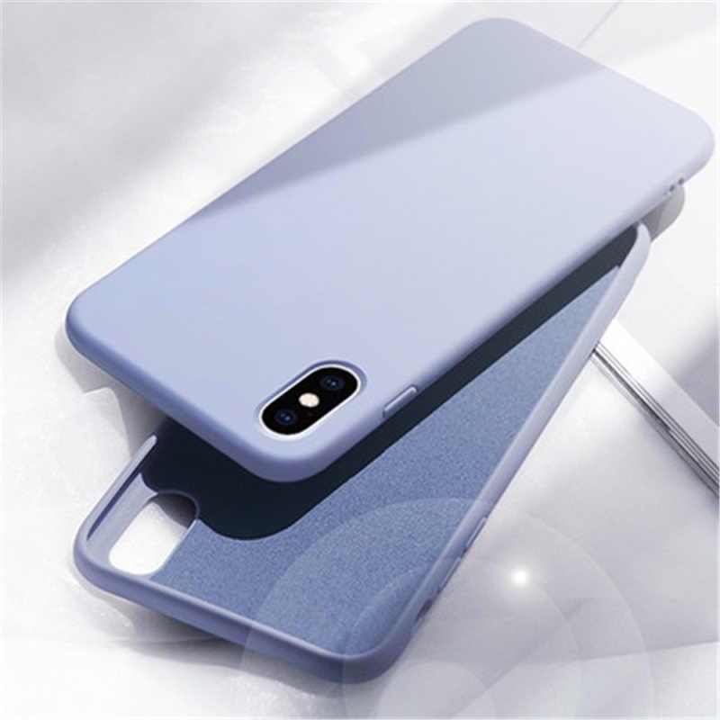 غطاء لهاتف آيفون X الأصلي لينة السائل سيليكون حقيبة لهاتف أي فون 6s 6 S 7 8 Plus X 10 XR 6Plus 6SPlus لطيف كاندي الهاتف