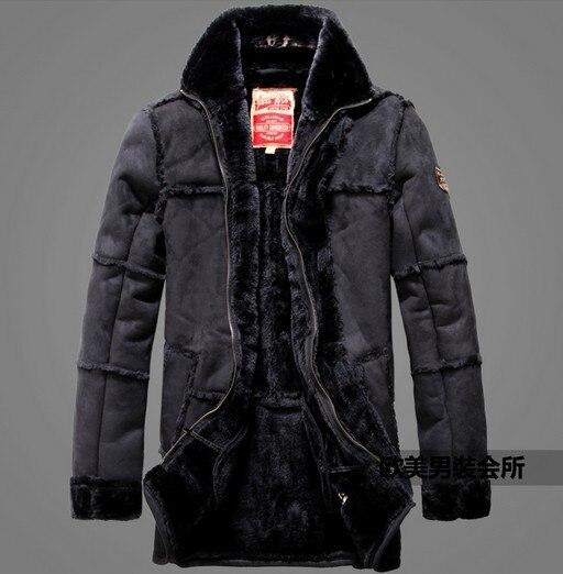 Сумасшедший продвижение! зима мужские новые продукты прибытие теплый роскошный пальто новый дизайн мех кожа авиатор куртка одежды M-2XL