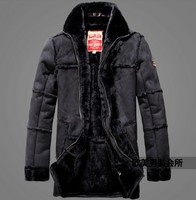 Crazy promotion ! winter man's new products arrival warm luxury coat novelty design fur leather aviator jacket clothes M 2XL