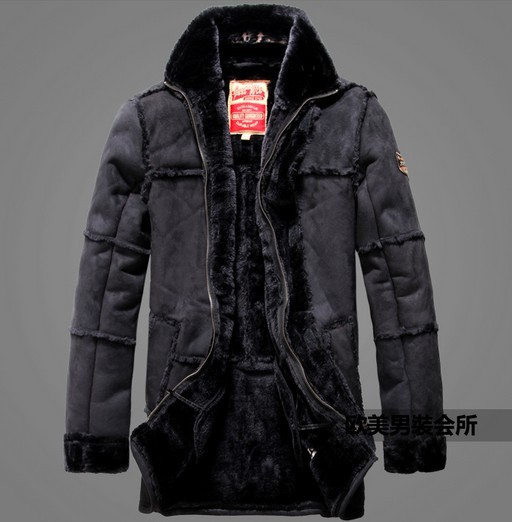 Crazy promotion ! winter mans new products arrival warm luxury coat novelty design fur leather aviator jacket clothes M - 2XL