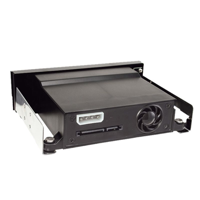 """SATA Internal Tray-less Mobile Rack for 2.5"""" or 3.5"""" SSD HDD Hard Drive Backplane Enclosure"""