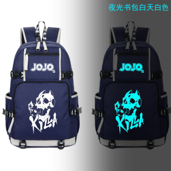 JoJo's Bizarre Adventure Cosplay Luminous Backpack Mochila Feminina Cool cosplay School Laptop Travel Rucksack A71708