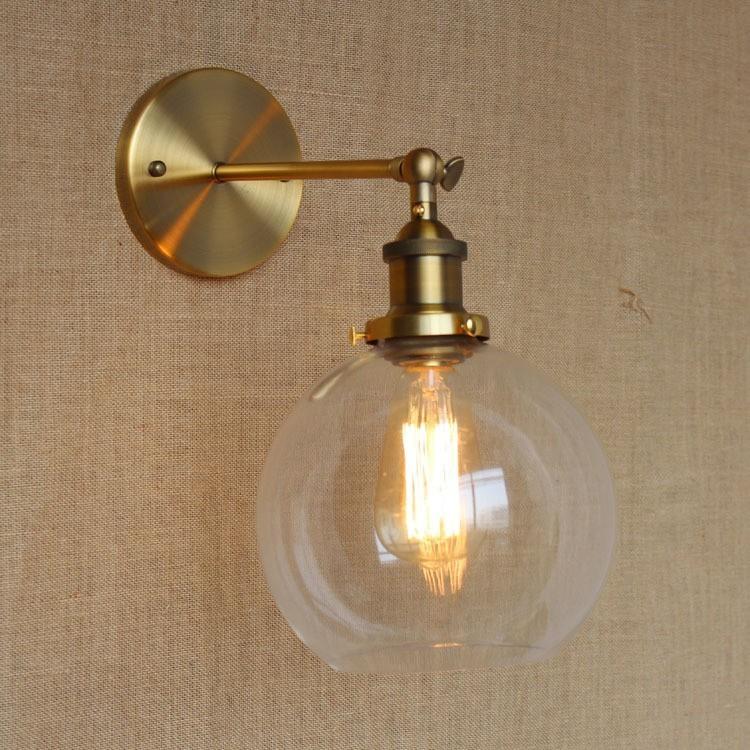Loft Industrial bathroom lights bronze body wall lamp light sconce ...