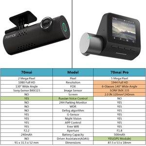 Image 5 - 70mai 프로 대시 캠 풀 HD 1944P 자동차 카메라 레코더 GPS ADAS 70 마이 와이파이 Dvr 자동차 24H 주차 모니터 140FOV 야간 투시경