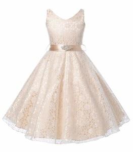 Image 2 - Kids Princess Party Dress for Girls Tutu Mesh Costume Birthday Ball Gown Lace Children Bridesmaid Elegant Dress Evening Girls