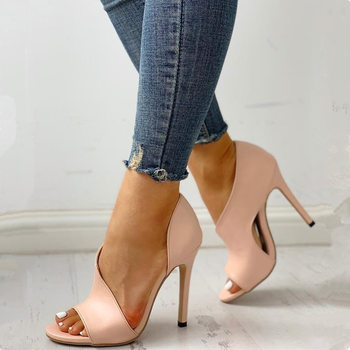 HOT Women Pumps New Shoes Sexy High Heels Ladies Party Stiletto & Enlargers Female Silver Wedding   1