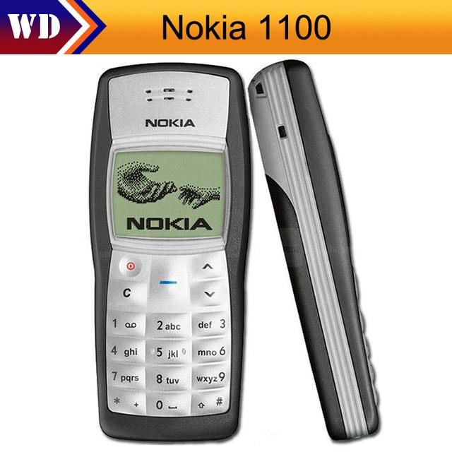 1100 Nokia 1100 Chính Hãng Mở Khóa GSM 2G Di Động Điện Thoại Giá Rẻ Tân Trang Tốt Pin Điện Thoại Nokia