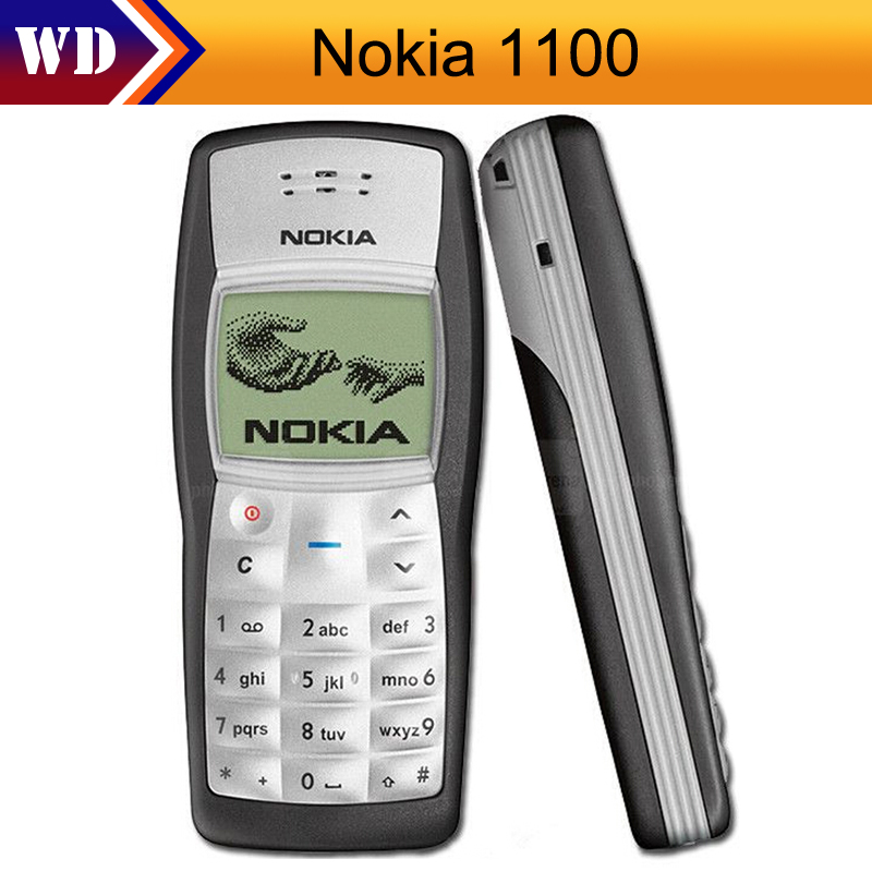 US $13 59 6% OFF|1100 Original Nokia 1100 Unlocked GSM 2G Mobile Phone  Cheap Refurbished Good Nokia Cell Phone-in Cellphones from Cellphones &