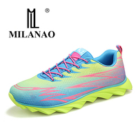 MILANAO Running Shoes Mens Women Sport Sneakers 2016 Mens Sneakers Breathable Walking Shoes Sneakers Women Zapatilla