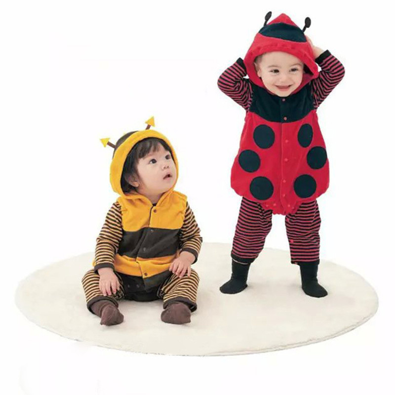 children Baby Clothing Spring Newborn Romper Suit,Cartoon Bee Ladybug Vest Climbing Two Piece Set baby Outfits girls boy clothes 3pcs set newborn infant baby boy girl clothes 2017 summer short sleeve leopard floral romper bodysuit headband shoes outfits