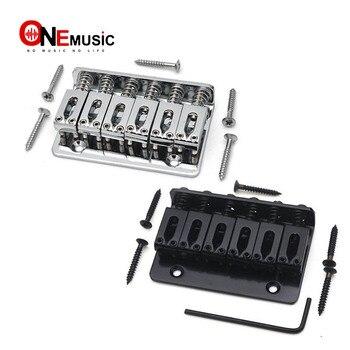 Puente de guitarra eléctrico de cola dura fija de 65MM L-65MM para niños, pieza trasera cromada/negra
