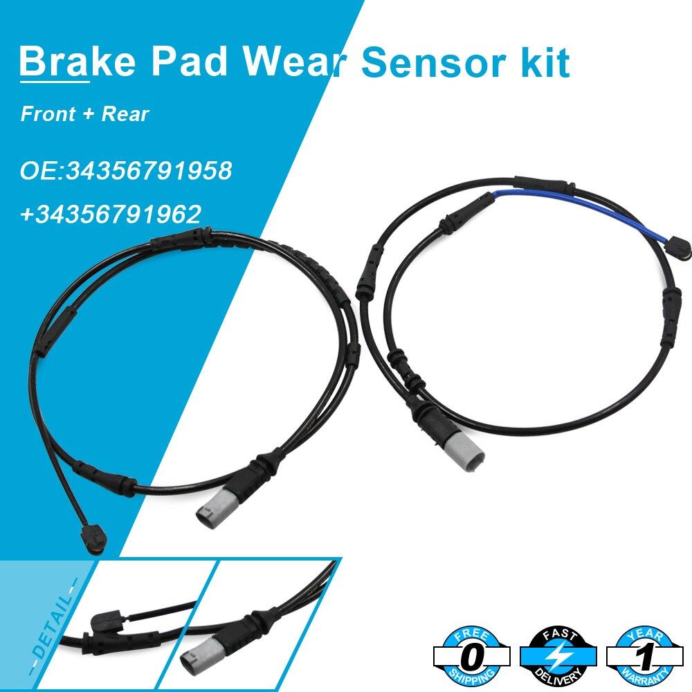 Brake Pad Wear Sensor Kit F+R For Mini Cooper R55 R56 34356792572+34356792573