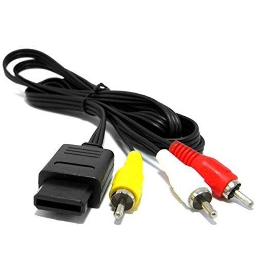 Para nintendo 64 cabo de vídeo de áudio tv cabo av para rca para super para nintendo para gamecube para n64 para snes