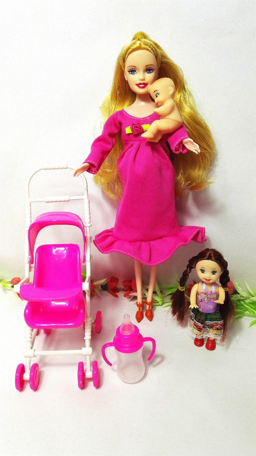 Hot Sale Dollhouse Furniture Children Play House Sets For Pregnant Barbie Doll  Baby Stroller Trolley Nursery Furniture Toy Kelly In Dolls From Toys ...