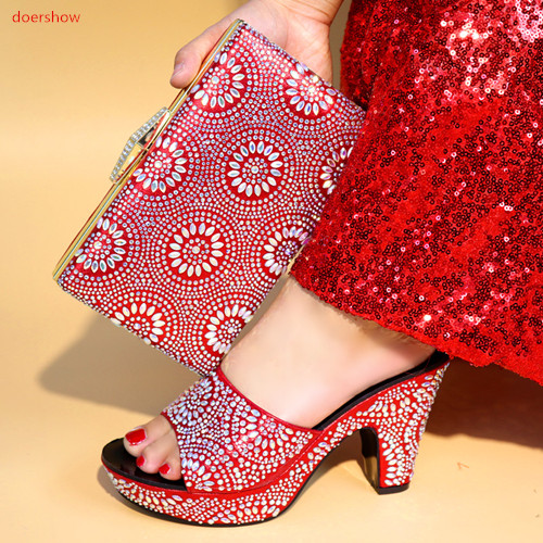 Здесь продается  doershow Fashion italian design shoes and matching bag High Quality African women Shoes And Bag For Evening Party SBV1-1  Обувь