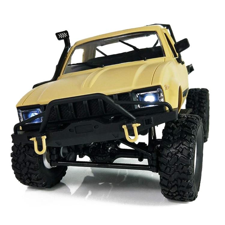 цена на HOT SALE WPL C14 1:16 Scale 2.4G 2CH 4WD Mini Off-road RC Semi-truck RTR Kids Climb Truck