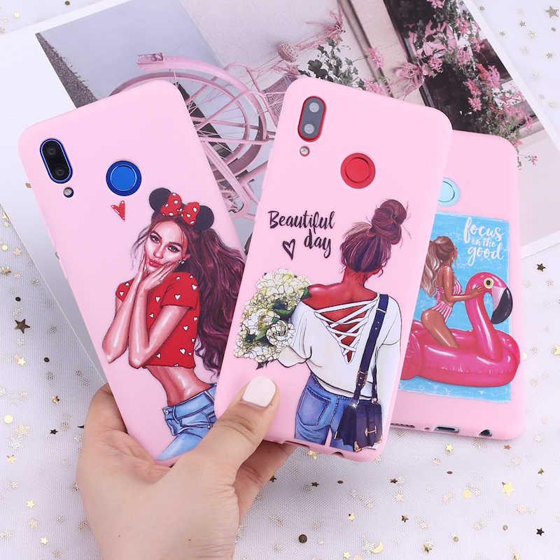Samsung S8 S9 S10 S10e S20 artı not 8 9 10 A7 A8 moda kraliçe şık Paris kız yaz seyahat şeker silikon telefon kılıfı