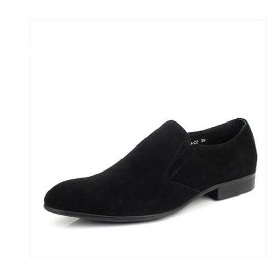 Men Formal Suede Shoes Luxury Nubuck