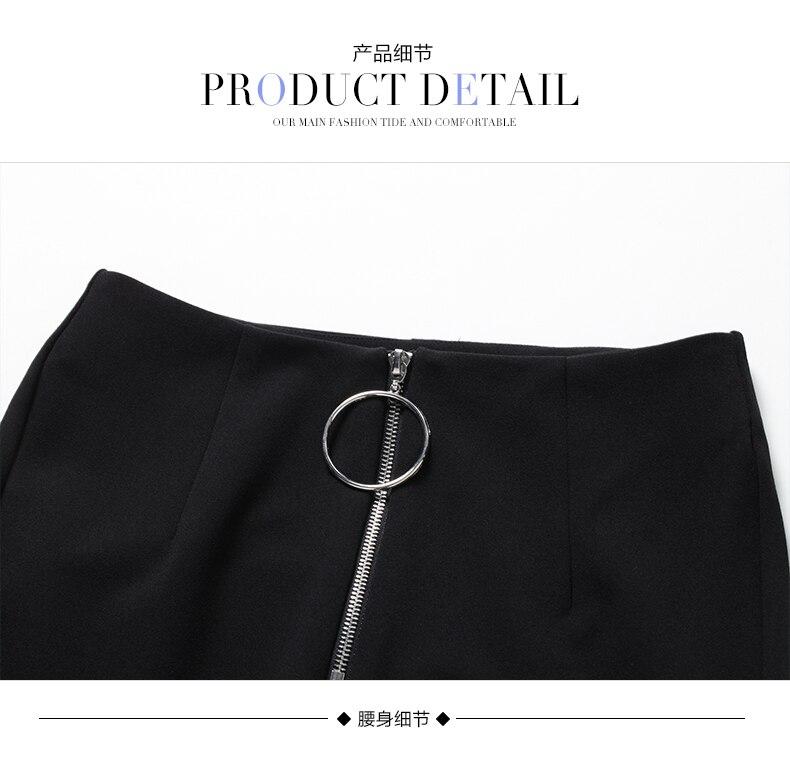 Cercle Éclair Bureau Flare Travail Femmes Fermeture Cheville Sipaiya Longueur Vêtements Dame Solide Décoration De Haute Taille Noir Pantalon Fgqw4xvX