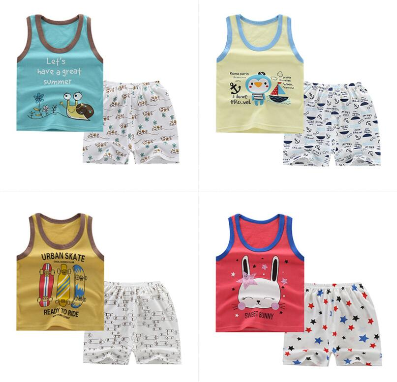 New Arrive Summer season Kids Clothes Cotton Boys Women Clothes Units Outfit Fits Trend T-shirt+Shorts Pretty Cartoon Child Set Clothes Units, Low cost Clothes Units, New Arrive Summer season...
