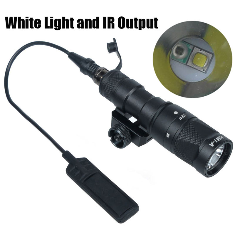 M300V Weapon Tactical Light Scout Light IR Output LED White Light Remote Pressure Switch Infra-red Output 20mm Rail for Hunting