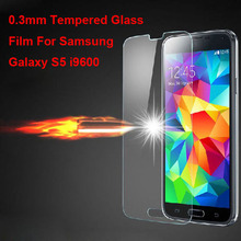 New Explosion Proof Premium Real Tempered Glass Protective Film Screen Protector for Samsung Galaxy S5 i9600 S 5 V SV