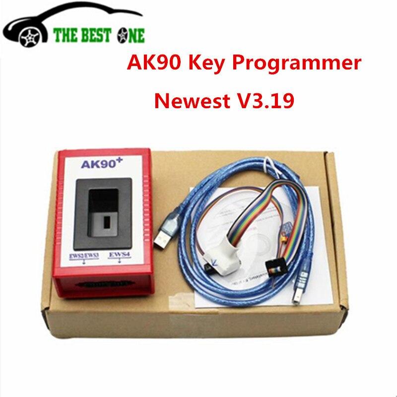 Prix pour Promotion!!! AK90 Programmeur principal Dernière Version V3.19 AK 90 Pour EWS AK90 + Pro Pour BMW Lire Les Données À Partir Des Décharges MCU Identifier touches