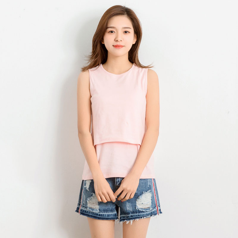 Cotton Nursing Vest Tops Maternity Breastfeeding Tees Pregnancy Clothing T-Shirts Feeding Clothes For Pregnant Women Vests New