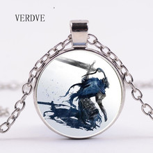 Verdve 3 цвета 2018 Новая мода темно-Soul ювелирные колье Кристалл купол кулон ожерелье подарок мужчине