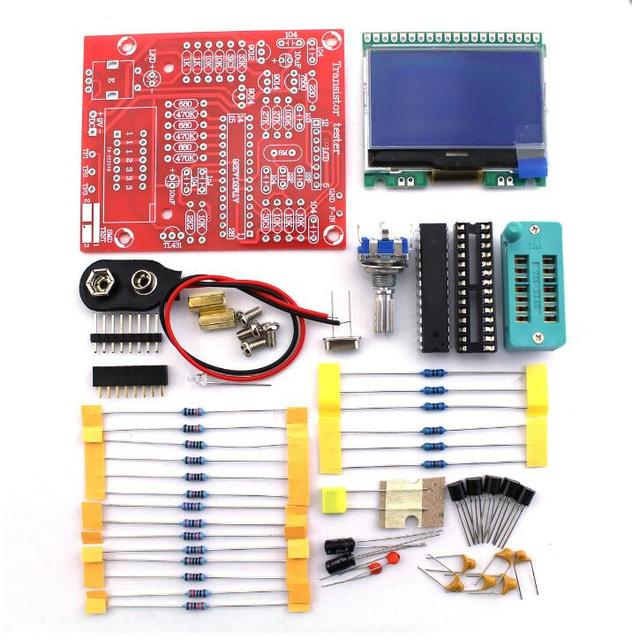 Orignal Hiland DIY M12864 Graphics Version Transistor Tester Kit LCR ESR PWM