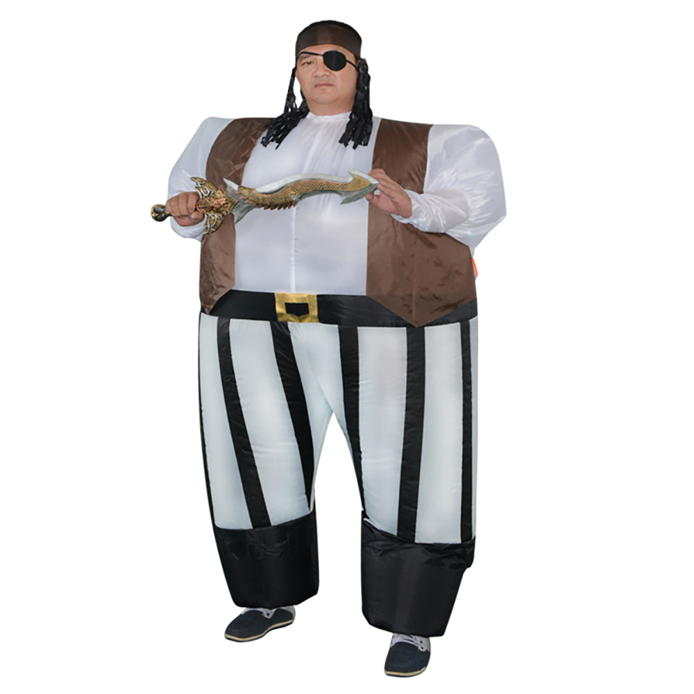 8f80a43ff88 US $40.99 |Inflatable Pirate Captain Fancy Dress Costume Fat Sumo Suit Blow  Up Adult Pirates of the Caribbean Role Play Halloween Costumes-in Holidays  ...