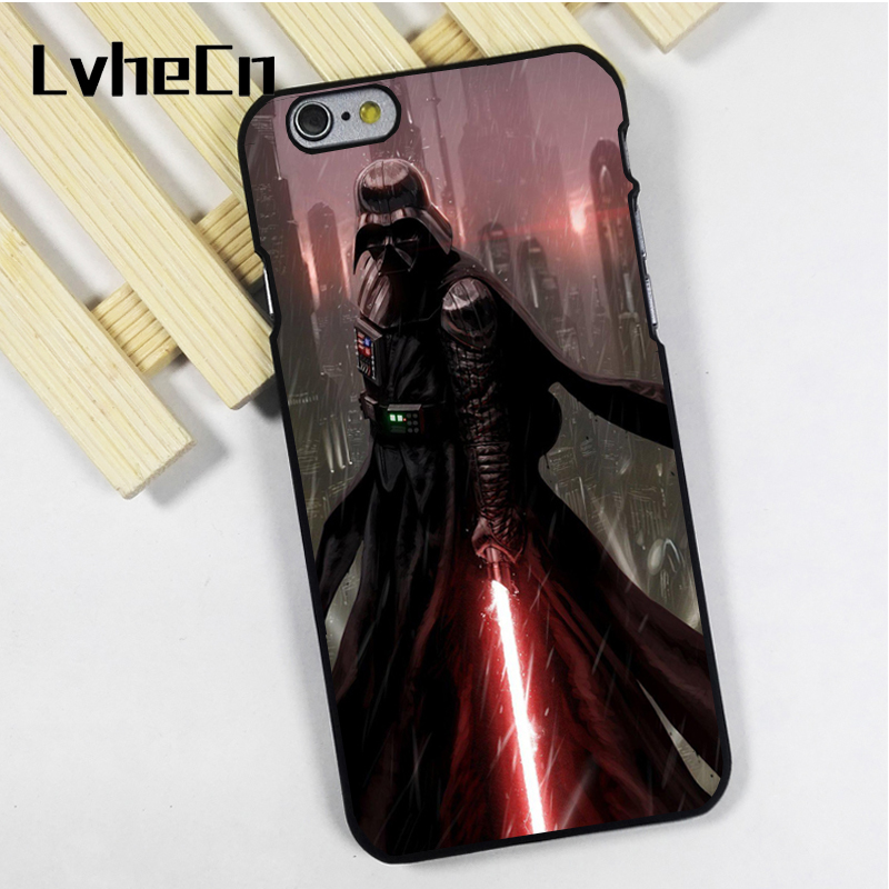 LvheCn phone case cover fit for iPhone 4 4s 5 5s 5c SE 6 6s 7 8 plus X ipod touch 4 5 6 Darth Vader Lord Of The Sith Star Wars