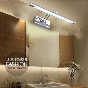 Image 4 - Lampa LED nad lustro wodoodporna 5W/40CM 7W/46CM 12W/55CM AC90 260V nowoczesne kosmetyczne akrylowa lampa ścienna oświetlenie łazienki regulowany