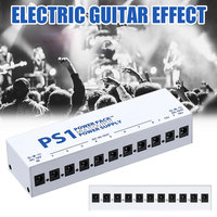 10 Isolated Guitar Effect Pedals Music Show Durable Output Power Supply Stage Shunt Adapter 9V/12V/18V Tool Band