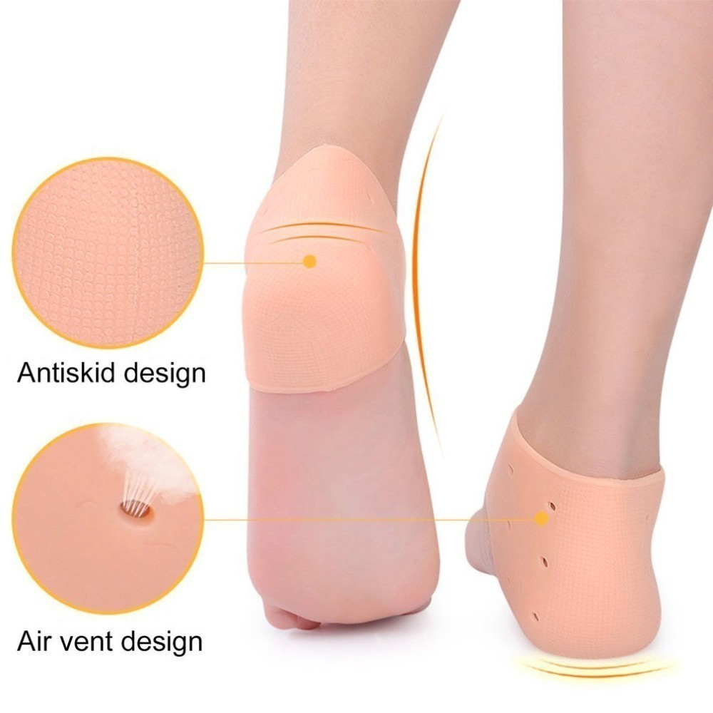 Silicone Moisturizing Gel Heel Socks Cracked Foot Skin Care Protect Foot Chapped Care Tool Health Monitors Massager