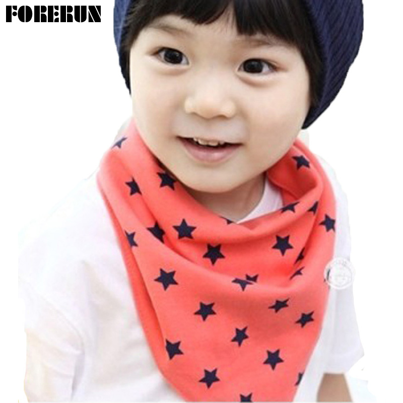 New Baby Bandana Bibs Button Style Solid Baby Bibs Towel with Stars Pure Cotton Baby Boy Bibs for Newborns Moms Care Feeding Bib