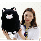 30cm Anime Stuffed Animal Toy Lucky Good Fortune Cat Black Chubby Cat Plush Toy Stuffed & Plush Animals Doll Kids Birthday Gifts