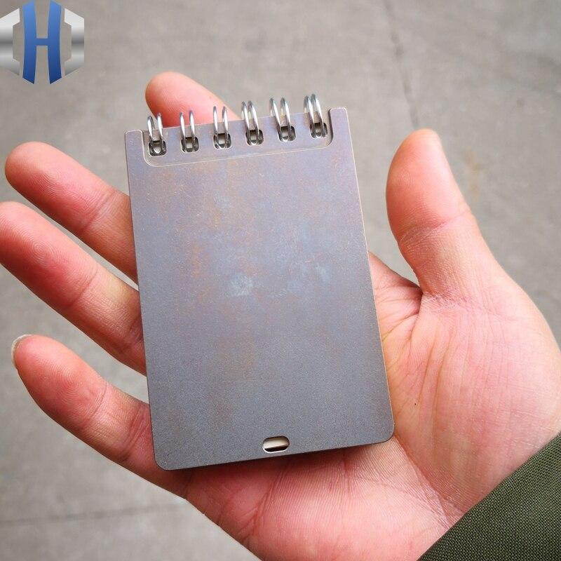 EDC Titane Bloc-Notes Portable D'affaires Mini Papeterie Conférence Dossier Bureau De Poche Fournitures