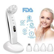 Vacuum Blackhead Remover Skin Care Pore Vacuum Nose Acne Comedo Suction Tool Acne Pimple Removal Machine цена