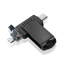 Металлический флеш-накопитель 3 в 1, 64 ГБ, флеш-накопитель 3,0 типа C, OTG 32 ГБ, 16 ГБ, 64 ГБ, 128 ГБ, Micro USB C 3,0, для телефона Android, u-диск для ПК