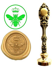Custom Logo Luxury Queen Bee Vintage Wax Seal Stamps Kit Wedding Invitation Sealing Stamps Gift