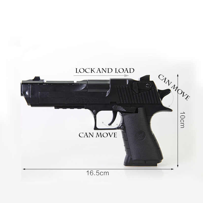 نموذج التجمع عدة لتقوم بها بنفسك ألعاب مكعبات البناء سلاح الصحراء النسر وبيريتا مسدس مع رصاصة البلاستيك مسدس الوضع