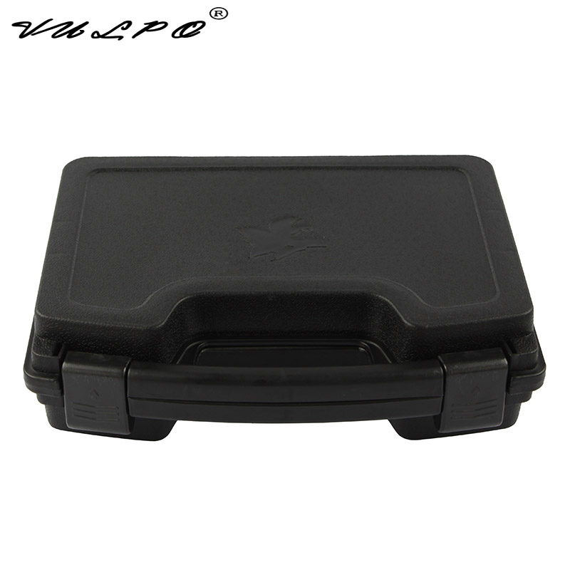 VULPO ABS Pistol Case Tactical Hard Pistol Case Gun Case Padded Foam Lining For Hunting Airsoft