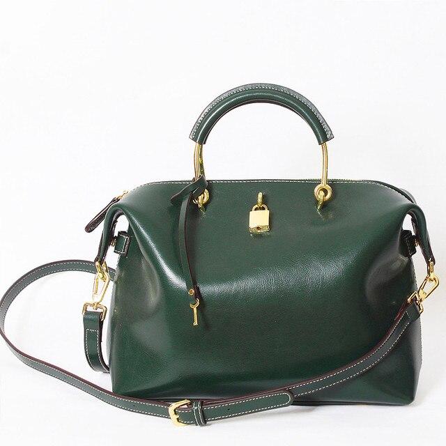 Candice S Large Women Genuine Leather Handbags Top Cow Messenger Bags Luxury Design Brand Crossbody