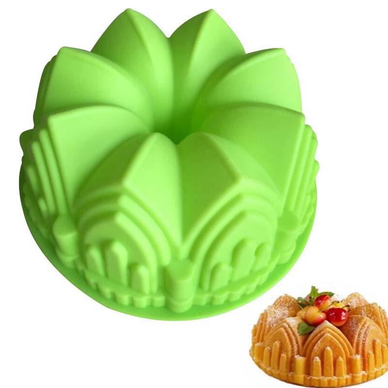 1pcs Large Big Crown Shape Chiffon Cake Mold Bread Pan Happy Birthday Castle Church Baking Cups