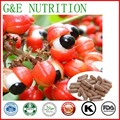100% natural Guarana extract powder for guarana capsule 500mg*100pcs free shipping