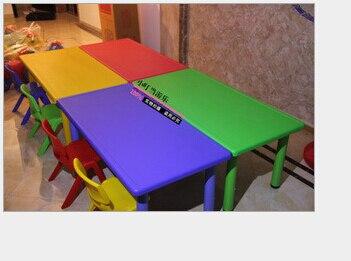 Seis larga mesa mesas y sillas de pl stico para los ni os - Mesas para ninos de plastico ...