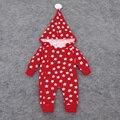 Romper do bebê de Manga Longa de Algodão Padrão de Estrela Do Bebê Macacão de Inverno 2016 Hoodies Quentes Macacão de Bebê do Inverno Do Natal Roupas de Bebê