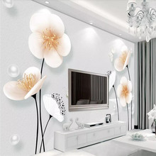 3D stereo plum blossom TV background wall professional production mural, wallpaper wholesale, custom poster photo